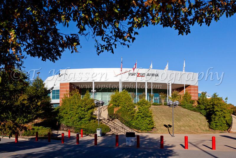 The Verizon Arena in Little Rock, Arkansas, USA.