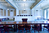 The old Arkansas Supreme court room at the State Capitol building in Little Rock, Arkansas, USA.