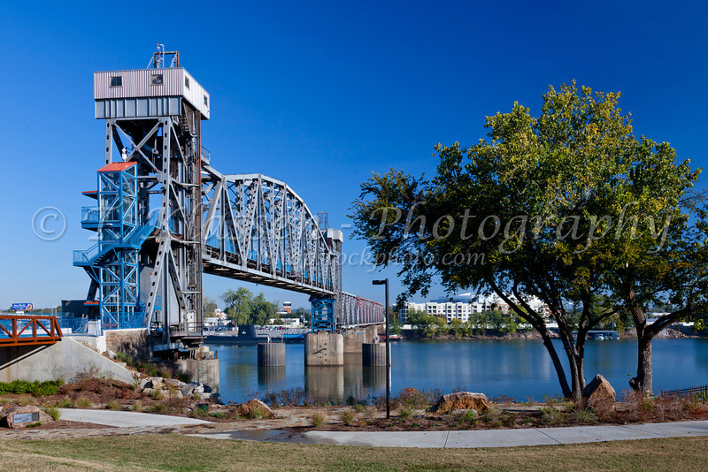 A bridge over the Arkansas river in Little Rock, Arkansas, USA.