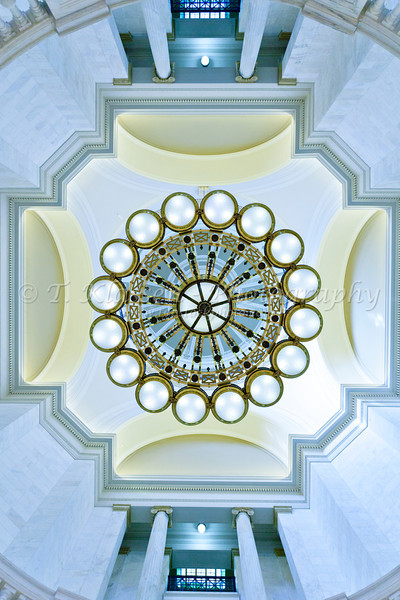 Interior dome of the Arkansas State Capitol building in Little Rock, Arkansas.