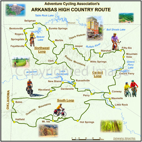 Arkansas High Country Route Map - photo edges softened - 72 ppi