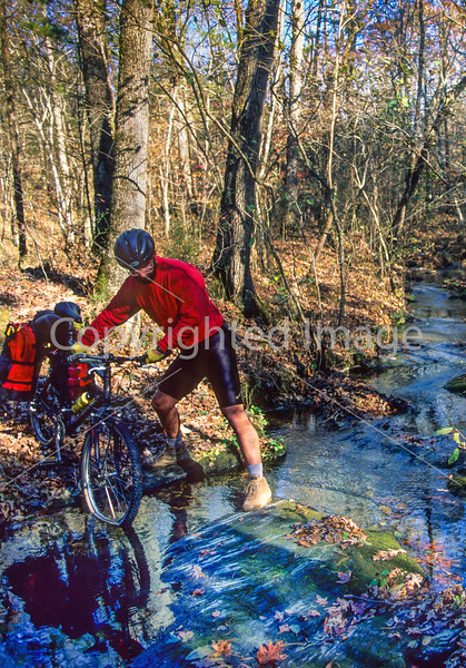 Mountain biker on Womble Trail in Arkansas' Ouachita Mountains - 38 - 72 ppi-2