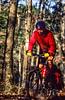 Mountain biker on Womble Trail in Arkansas' Ouachita Mountains - 72 - 300 ppi