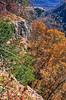 Biker at Hawksbill Crag, northwest Arkansas, Upper Buffalo Wilderness Area, 1 5-mile hike in from gravel road - 54 - 72 ppi