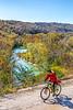 Biker high above Buffalo River north of Jasper_D5A2131-Edit - 72 ppi