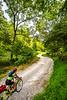 Cyclist on Mill Hollow Road near Eureka Springs, Arkansas - C2-0787 - 72 ppi