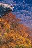 Biker at Hawksbill Crag, northwest Arkansas, Upper Buffalo Wilderness Area, 1 5-mile hike in from gravel road - 49 - 72 ppi