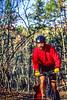 Mountain biker on Womble Trail in Arkansas' Ouachita Mountains - 34 - 72 ppi-2