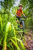 Mountain biker on Womble Trail near AR 298 Trailhead - C2_D5A2001 - 72 ppi