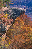 Biker at Hawksbill Crag, northwest Arkansas, Upper Buffalo Wilderness Area, 1 5-mile hike in from gravel road - 61 - 72 ppi