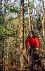 Mountain biker on Womble Trail in Arkansas' Ouachita Mountains - 189 - 72 ppi