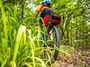 Mountain biker on Womble Trail near AR 298 Trailhead - C2_D5A2008 - 72 ppi-3