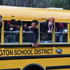 GREG SUKIENNIK -- MANCHESTER JOURNAL<br /> The Arlington Memorial High School boys' soccer team waits for their victory parade to start on Saturday afternoon. The parade started on Route 7A near the Sunderland-Manchester line and stretched through Arlington before ending at AMHS.