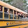 GREG SUKIENNIK -- MANCHESTER JOURNAL<br /> The Arlington Memorial High School boys' soccer team pulled down their windows and flashed No. 1 signs while waiting for their victory parade to start on Saturday afternoon.