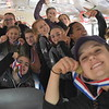 GREG SUKIENNIK -- MANCHESTER JOURNAL<br /> The Arlington Memorial High School girls' soccer team shows off their medals while waiting for their victory parade to start on Saturday afternoon.