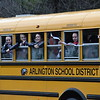 GREG SUKIENNIK -- MANCHESTER JOURNAL<br /> The Arlington Memorial High School girls' soccer team waits for their victory parade to start on Saturday afternoon. The boys and girls' teams were escorted through town by emergency vehicles and followed by parents, students and fans.