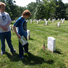 Visiting great great great Uncle Fred, Arlington National Cemetery,  Memorial Day weekend, 2009
