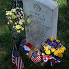 Flowers bedeck grave of Audie Murphy, Arlington National Cemetery,  Memorial Day weekend, 2009