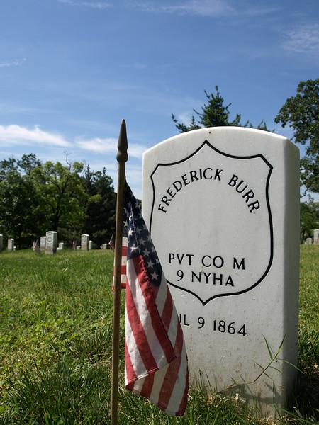 Civil War ancestor, Arlington National Cemetery,  Memorial Day weekend, 2009
