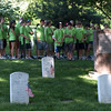 School children at the graves of Lee Marvin and Joe Louis, Arlington National Cemetery,  Memorial Day weekend, 2009
