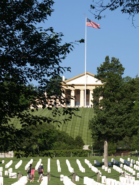 Custis Lee Mansion, Arlington National Cemetery,  Memorial Day weekend, 2009