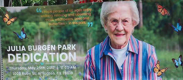 2017 Julia Burgen .. park dedication