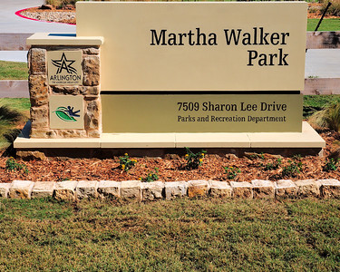 2016 Martha Walker Park -  dedication