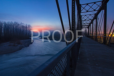 Haller Park Bridge in Arlington Washington at sunrise