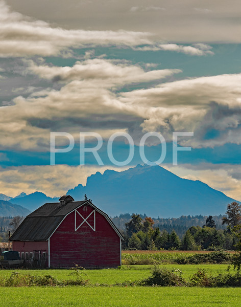 Red Barn in Silvana Washington