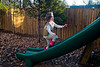 Mia sprinting up the slide - 2017-12-16