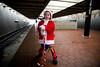 Mia waiting on a train - 2017-12-09