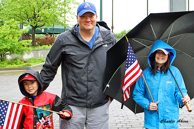 I saw this family at the National D-Day Memorial.