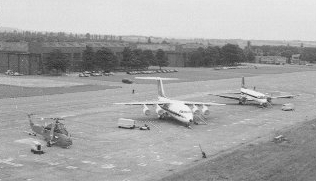 <font size=3><u> - Queen's Flight - </u></font> (BS0362)  Shows 3 aircraft of the Flight lined up.
