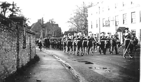 <font size=3><u> - RAF Band - </u></font> (BS0259)  Castle Square - RAF parade, November,  to celebrate the Armistice.