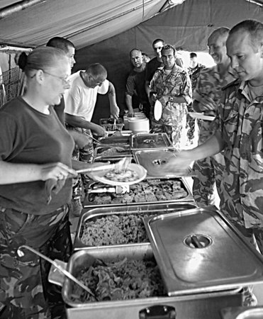 <font size=3><u> - RAF Catering Unit - 1996 - </u></font> (BS0683)  Formed 1975, and based largely at RAF Benson.   Deployed on operations Falklands 1982, Middle East 1990, Yugoslavia & Saudi Arabia 1996, and subsequently on Kuwait.