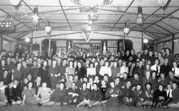 <font size=3><u> - Group Photo Wartime In Village Hall - </u></font> (BS0012)