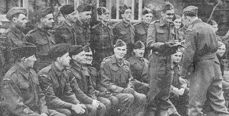 <font size=3><u> - Home Guard - </u></font> (BS0380)  Presentation to Major RB Horsfield by Benson Home Guard in recognition of his services.