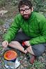 Yann preparing dinner at our campsite outside Vanadzhor