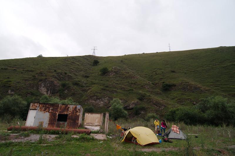 Our campsite outside Vanadzhor