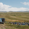 Beekeepers sell honey along the high altitude plateau between the Vorotan Pass and Goris