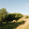 Campsite, 500 metres from Vorotan Pass near the village of Saralandj