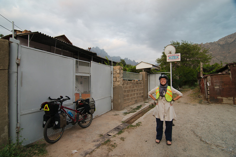 Outside our B&B in Agarak, a few kilometres from the Iranian border
