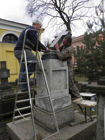 Armenian Cemetery in St. Petersburg, Russia