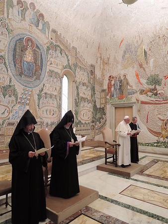 His Holiness Karekin II Meets Pope Francis, May 8, 2014