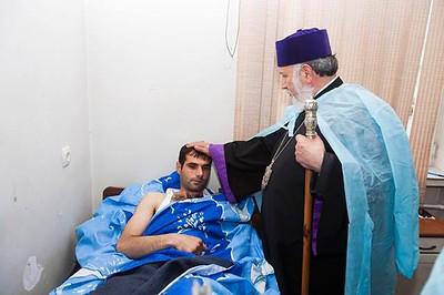 His Holiness Karekin II and His Holiness Aram I Visit Artsakh, April 2016