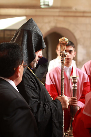 Patriarch of Jerusalem Enthroned at Sts. James Cathedral
