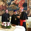 H.H. Karekin II, Catholicos of All Armenians, with the Vatican's Secretary of State Cardinal Parolin and Diocesan Primate Abp. Barsamian.