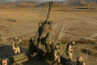 The M198 Medium Towed Howitzer is a 155mm field artillery howitzer. It is constructed of aluminum and steel, and is air transportable by CH-53E helicopter, and C-130 or larger fixed-wing aircraft.
