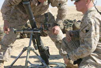 The M224 was designed to fire all types of the older ammunition, but its primary rounds are of the newer, longer-range type.