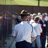 (FORT BENNING, Ga) Mike Burns Assumes charge of the 2-47 Infantry Regiment after the Memorial Day Wreath Laying ceremony, April 24, 2014 at The National Infantry Museum Vietnam War Memorial Wall.  (Photos by: Patrick A. Albright/MCoE Photographer)